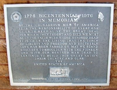 1776 Bicentennial 1976 Marker image. Click for full size.