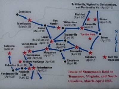 Route of Stoneman's Raid image. Click for full size.