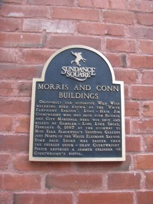 Morris and Conn Buildings Marker image. Click for full size.