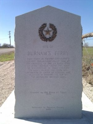 Burnam's Ferry Marker image. Click for full size.