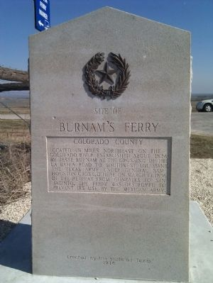 Reverse side Burnam's Ferry Marker. image. Click for full size.