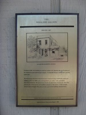 The Whalers Saloon Marker image. Click for full size.