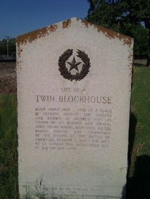 Twin Blockhouse Marker image. Click for full size.