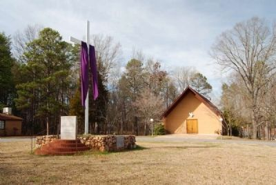 Ruhamah United Methodist Church and Marker image. Click for full size.
