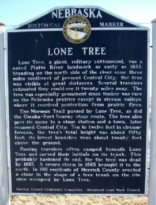 Lone Tree Marker image. Click for full size.