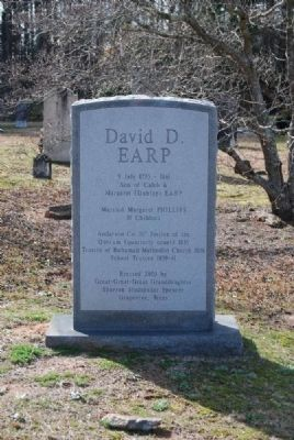 David D. Earp Tombstone/Monument image. Click for full size.