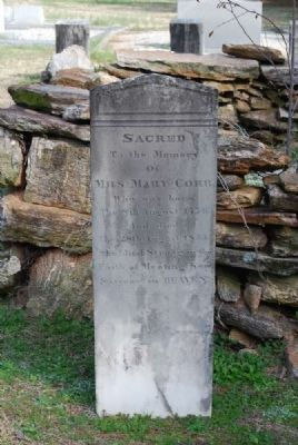 Mary Corr Tombstone image. Click for full size.