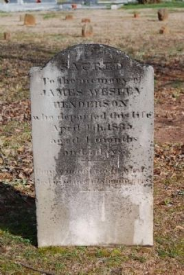 James Wesley Henderson Tombstone image. Click for full size.