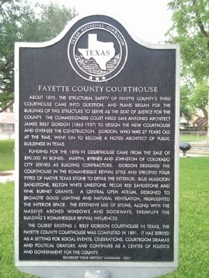 Fayette County Courthouse Marker image. Click for full size.