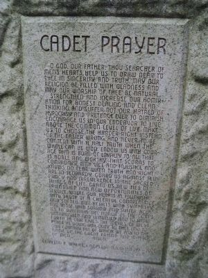 Cadet Prayer Marker image. Click for full size.