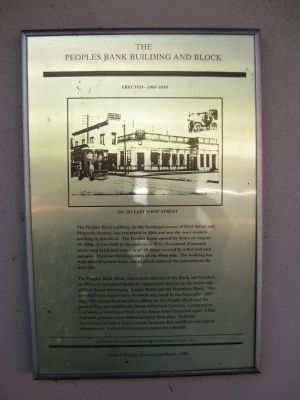The Peoples Bank Building and Block Marker image. Click for full size.