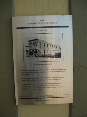 The Sanford Herald Building Marker image. Click for full size.