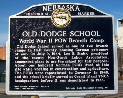 Old Dodge School Marker image. Click for full size.