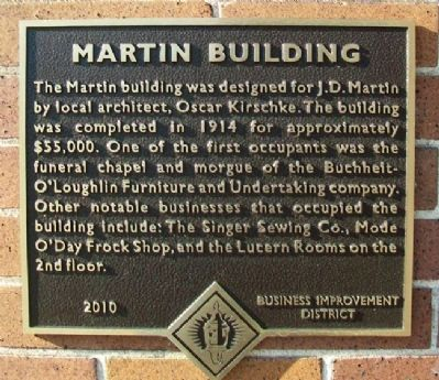 Martin Building Marker image. Click for full size.