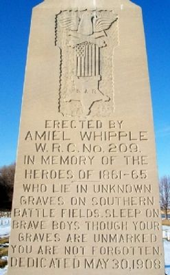 Amiel Whipple W.R.C. Civil War Memorial image. Click for full size.