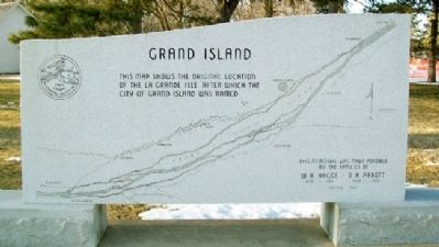 Grand Island Marker image. Click for full size.