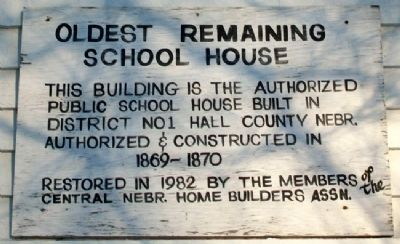 Oldest Remaining School House Marker image. Click for full size.
