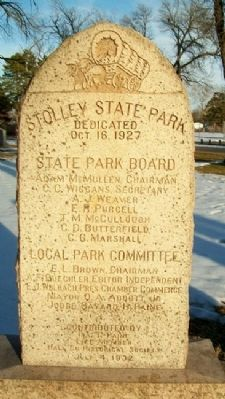 Original Home of the Stolley Family Marker (Side B) image. Click for full size.