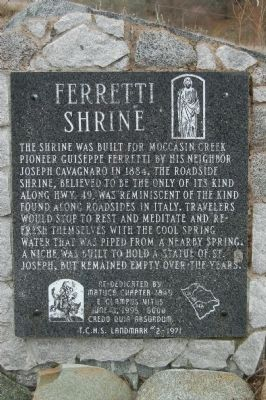 Ferretti Shrine Marker image. Click for full size.