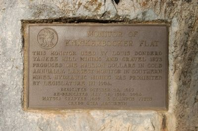 Monitor of Knickerbocker Flat Marker image. Click for full size.