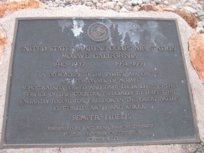 United States Marine Corps Air Station Marker image. Click for full size.