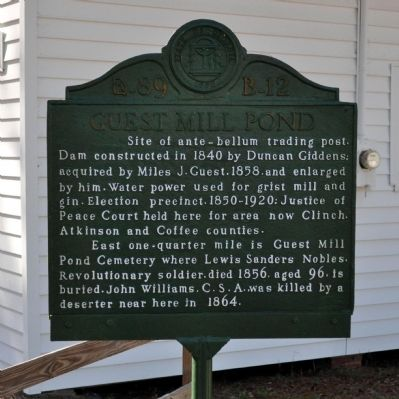 Guest Mill Pond Marker image. Click for full size.