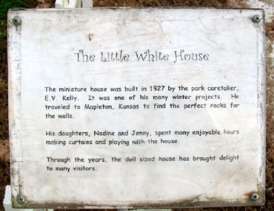 The Little White House Marker image. Click for full size.