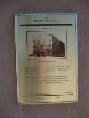The Imperial Opera House Marker image. Click for full size.