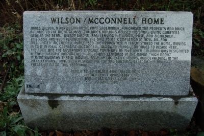 Wilson/McConnell House Marker image. Click for full size.