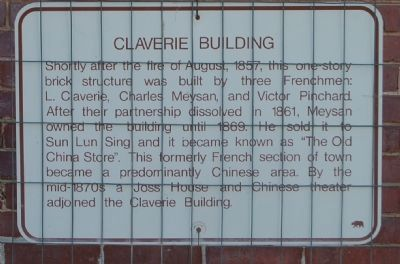 Claverie Building Marker image. Click for full size.