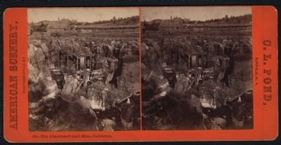 Abandon Gold Mine circa 1860s. image. Click for full size.