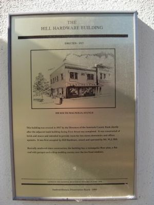 The Hill Hardware Building Marker image. Click for full size.