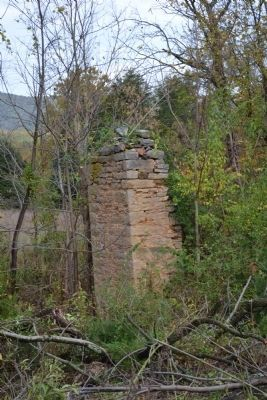 This is the main house chimney at Rev John Rhodes property image. Click for full size.