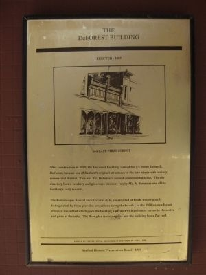 The DeForest Building Marker image. Click for full size.
