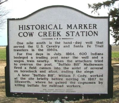 Cow Creek Station Marker image. Click for full size.