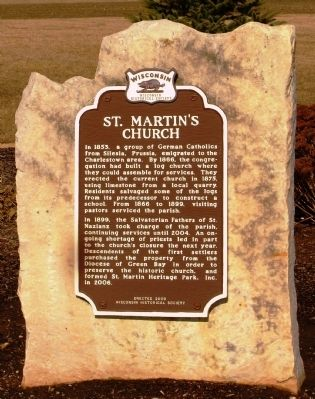 St. Martin's Church Marker image. Click for full size.