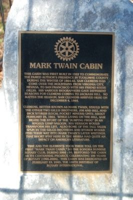 Mark Twain Cabin Marker image. Click for full size.