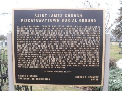 Saint James Church Marker image. Click for full size.