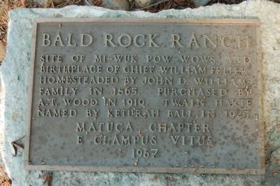 Bald Rock Ranch Marker image. Click for full size.