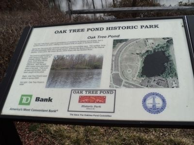 Oak Tree Pond Marker image. Click for full size.