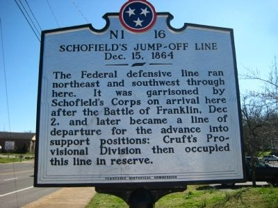 Schofield's Jump-Off Line Marker image. Click for full size.