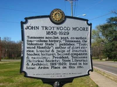 John Trotwood Moore Marker image. Click for full size.
