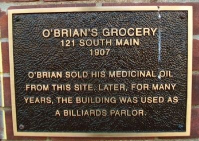 O'Brian's Grocery Marker image. Click for full size.