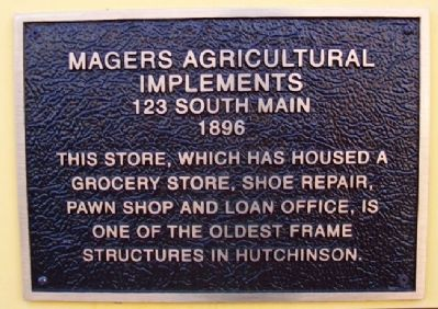Magers Agricultural Implements Marker image. Click for full size.