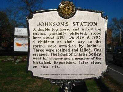 Johnson's Station Marker image. Click for full size.