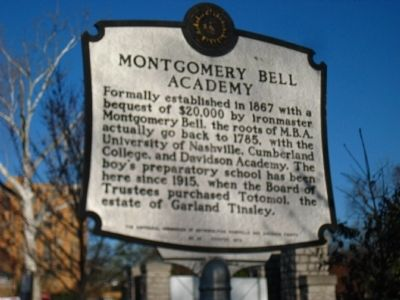 Montgomery Bell Academy Marker image. Click for full size.