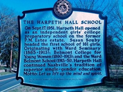 The Harpeth Hall School Marker image. Click for full size.