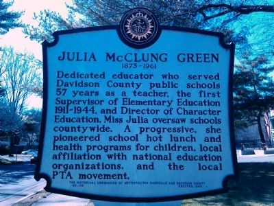 Julia McClung Green Marker image. Click for full size.