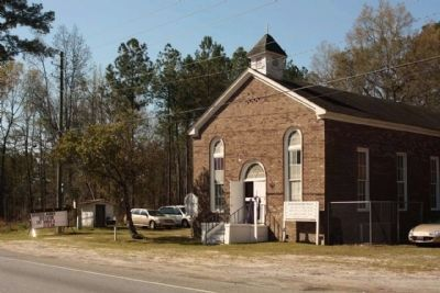 Richmond Baptist Church with Marker along Ga Route 21 image. Click for full size.