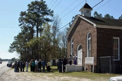 Richmond Baptist Church Marker Dedication image. Click for full size.